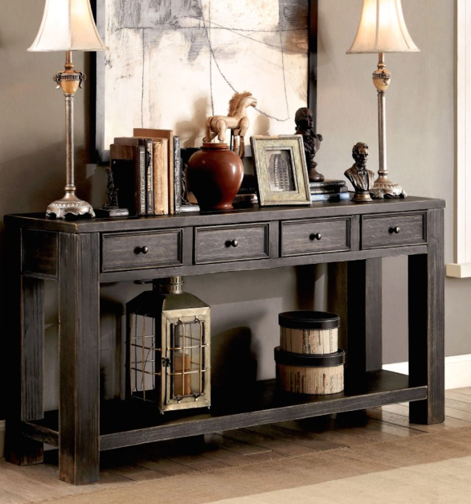 Rustic buffet table furniture - Console Tables For Entryway Buffet Table Sideboards Rustic Tv Stand Cabin Decor Furnitureofamerica Rusticprimitive