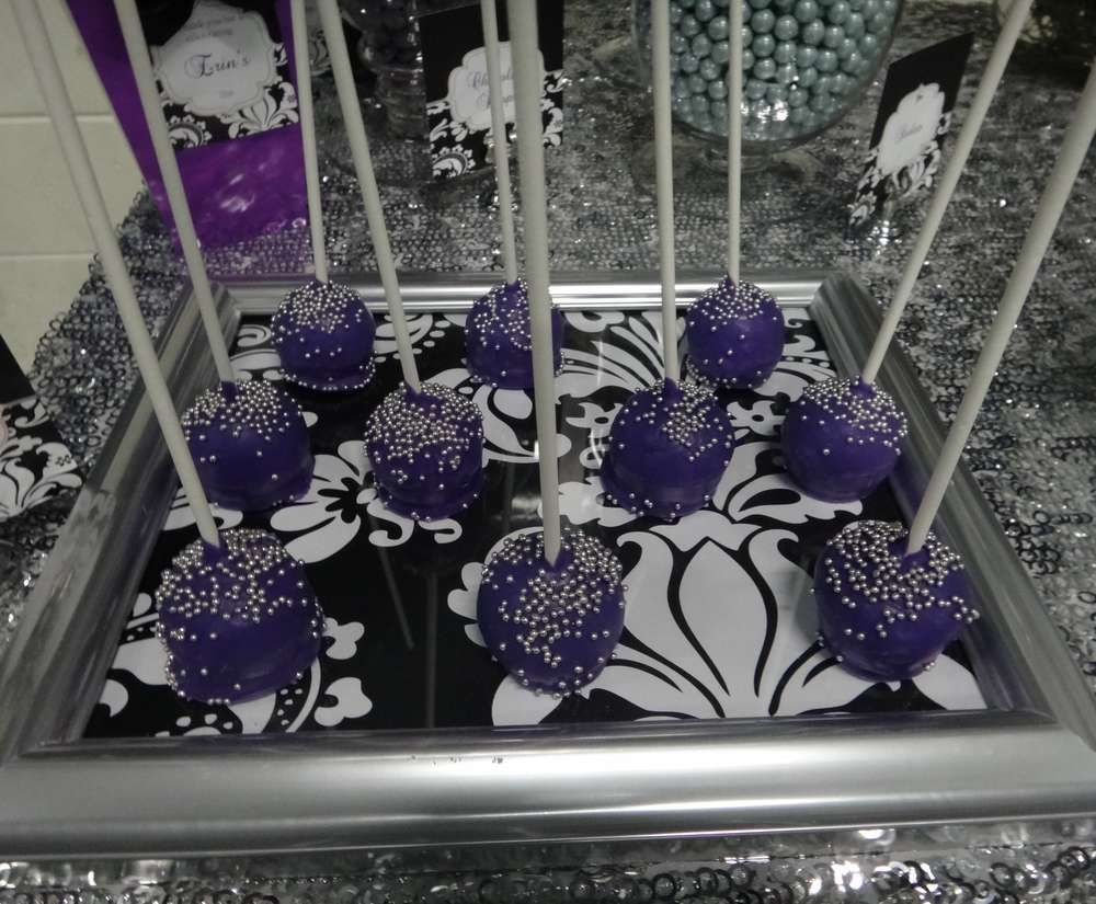 20 Black And Purple Birthday Table Decorations Pictures And Ideas