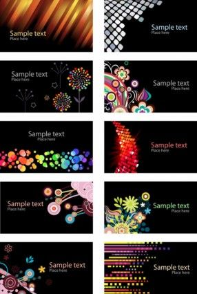 Beautiful Card Background Vector Free Business Card Templates