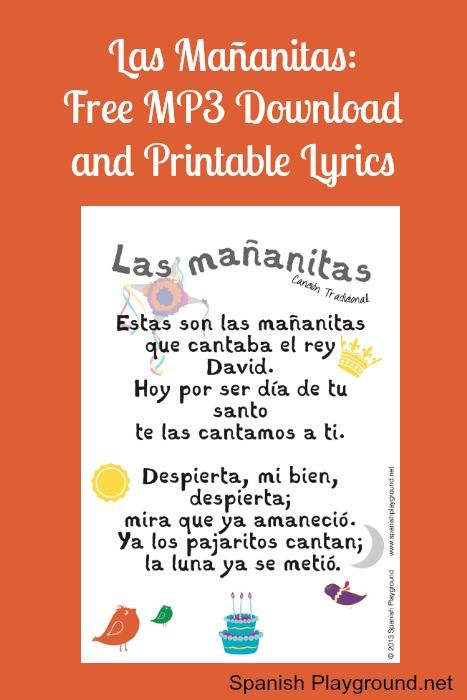 Happy Birthday Song In Spanish Free Printable Lyrics Spanish Playground Birthday Songs Happy Birthday Song Happy Birthday In Spanish