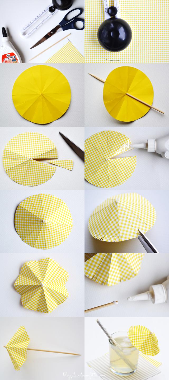 nueva lanzamiento calidad superior diseño de variedad DIY- Drink umbrella tutorial DIY- Sombrilla de papel para ...