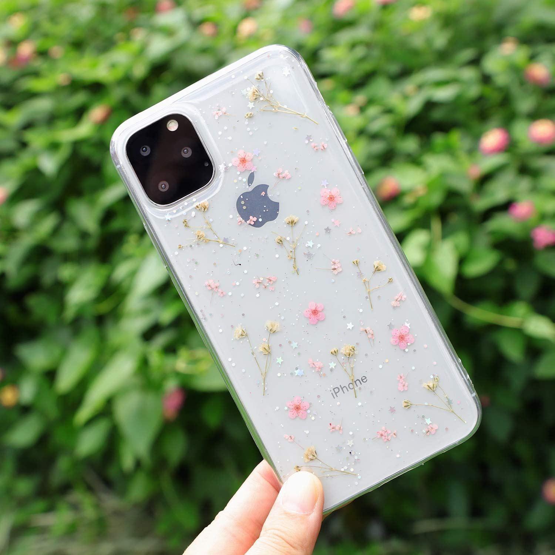 iPhone XI MAX Flower 2019 Case, Feibili Soft Clear