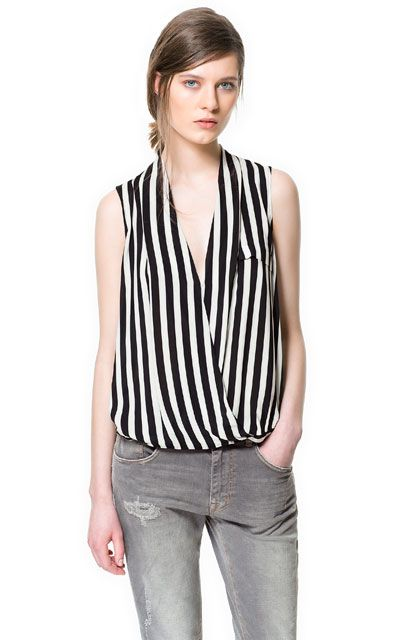 ac12579bce27d2 Image 1 of STRIPED TOP from Zara