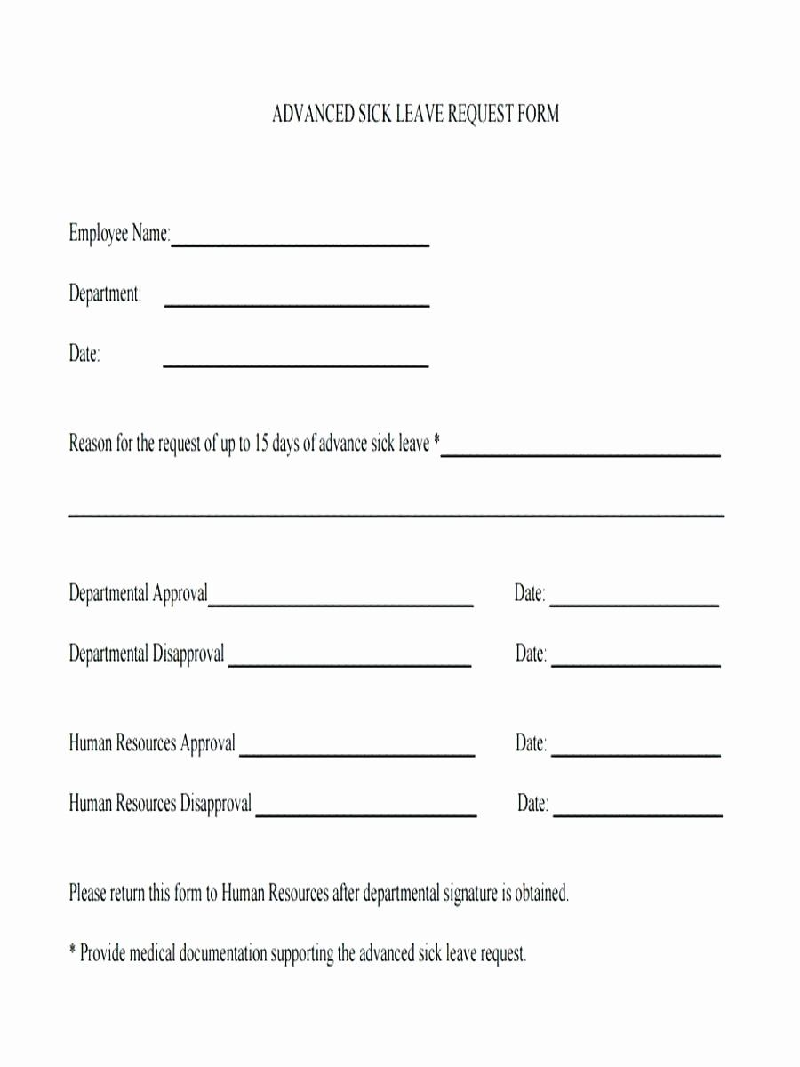 Sick Leave Form Template Beautiful Sick Leave Request Form Template Hashtag Bg In 2020 Business Card Template Psd Templates Word Line