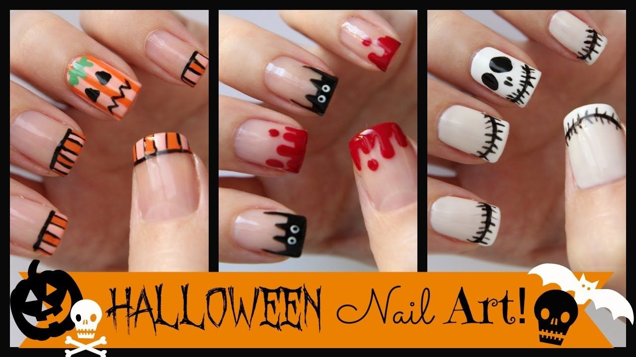 Top 10 Halloween Nail Art Designs | Top 10 Hair Transformations by ...