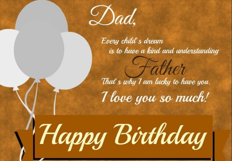 Happy birthday dad from daughter letter father birthday
