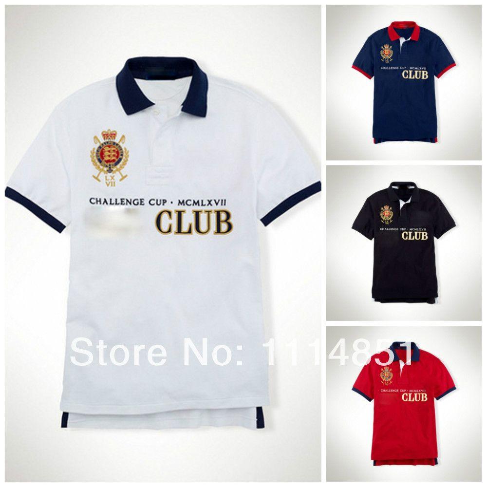 Embroidery Brand Horse Logo Men S Golf Club Menswear Slim Fit Polo