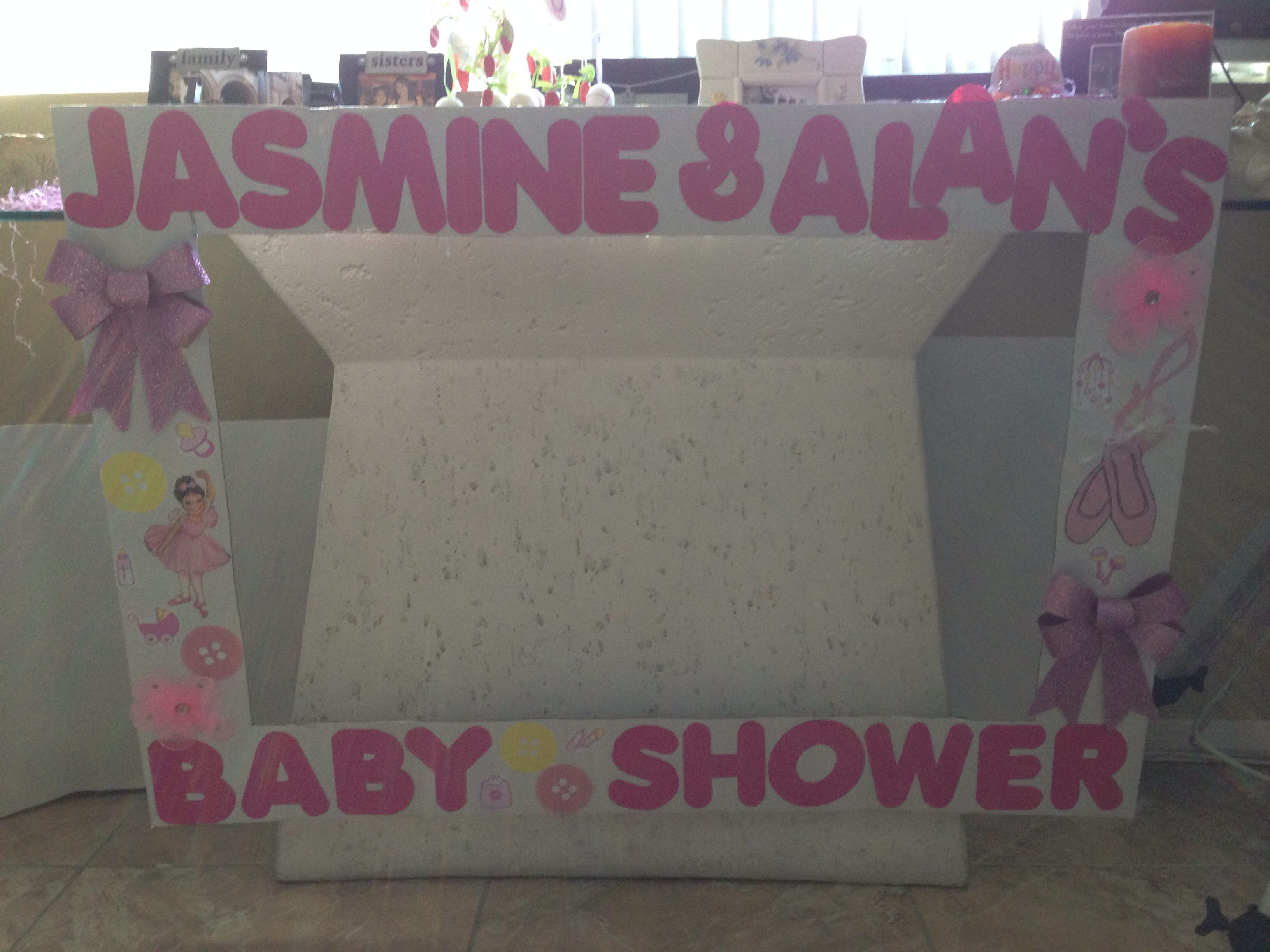 babyshower photo booth frame