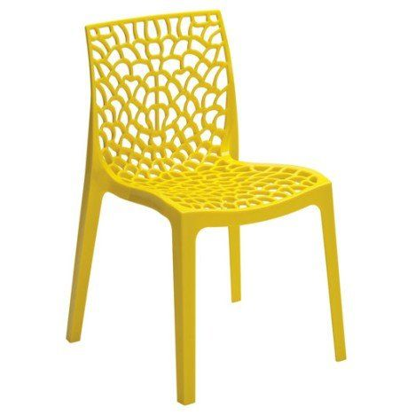 Chaise De Jardin En Resine Grafik Jaune Chaise Design Chaise De Jardin Chaise De Salle A Manger