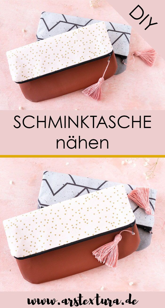 DIY Clutch Schminktasche nähen – DIY Geschenk | ars textura - DIY Blog
