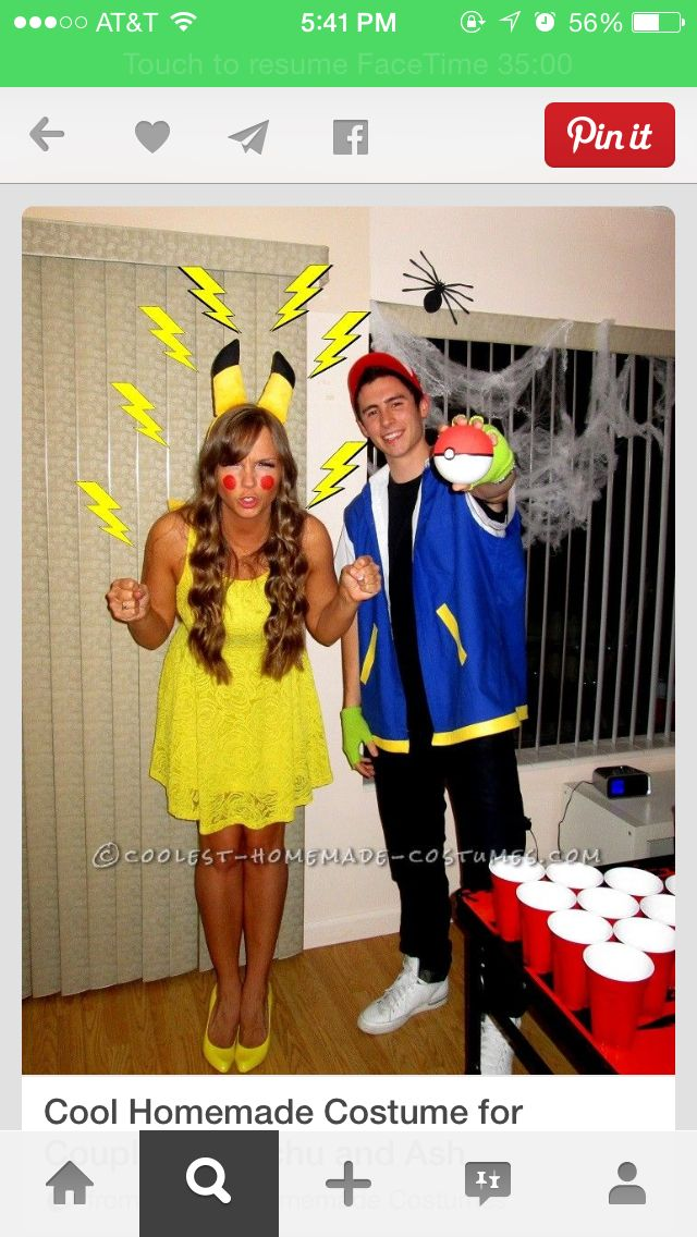 pikachu halloween Pinterest - halloween costume ideas for groups of 5