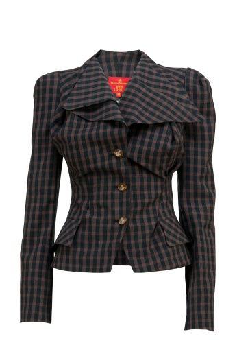Seersucker Check Wool Blazer Jacket