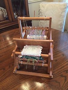 Small Vintage Wooden 2 Harness Weaving Loom