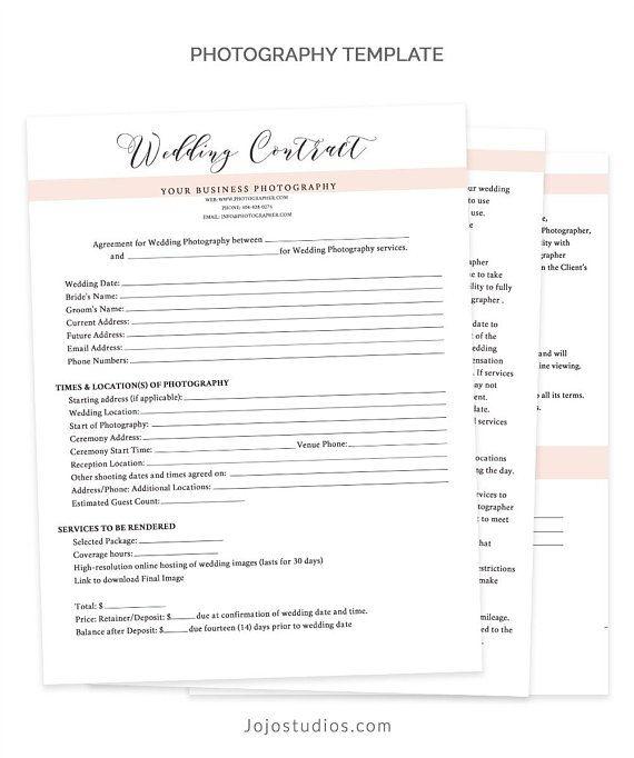 Wedding contract template wedding contract photography business wedding contract template wedding contract photography business forms wedding contracts for photog wajeb Gallery