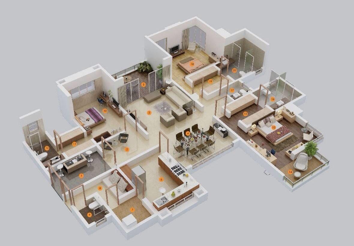 Planta arquitectónica. | house designs | Pinterest | House, Modern ...