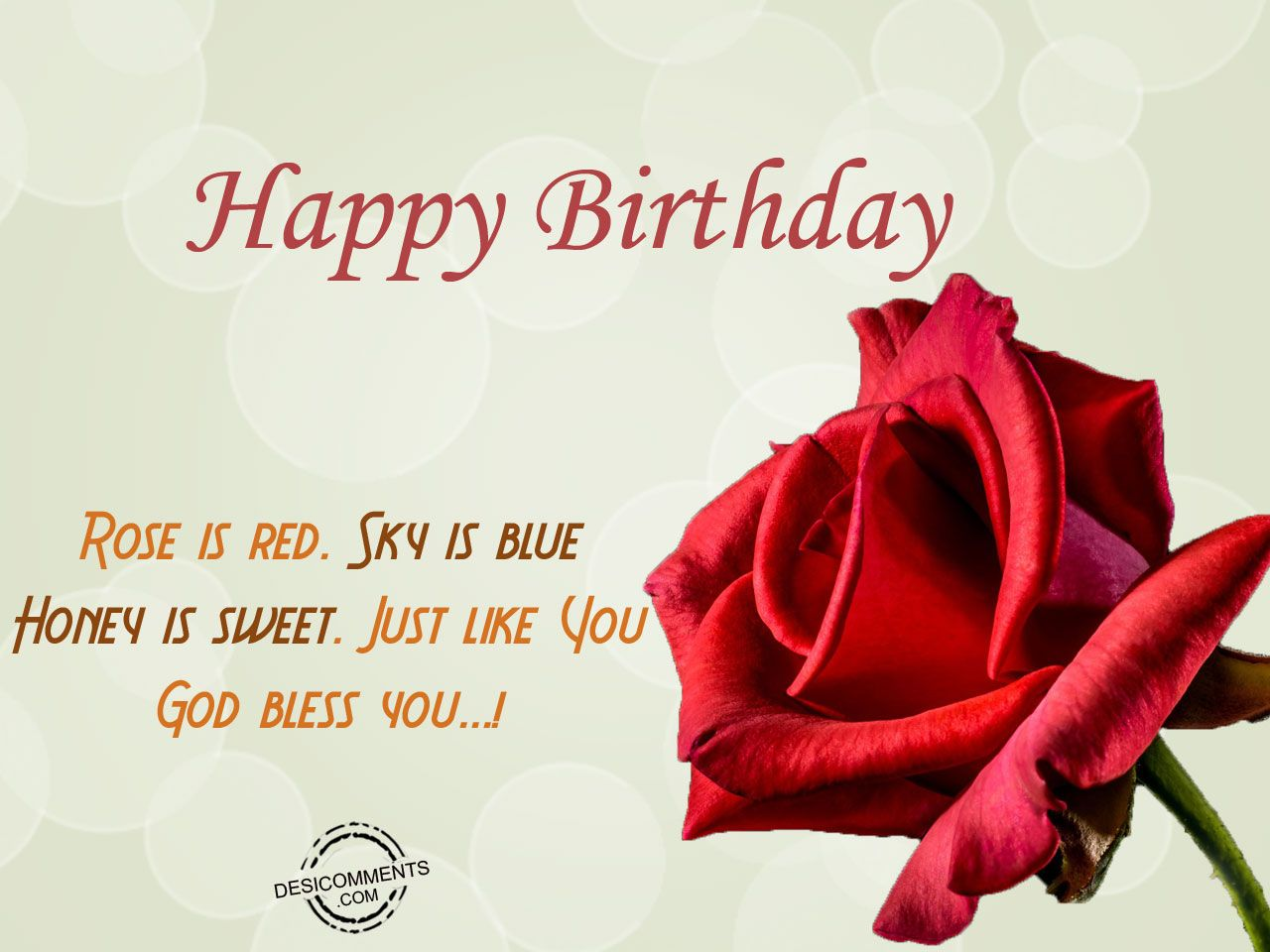 Happy Birthday Wishes For Wife ~ Rose is red sky is blue birthdays wife birthday