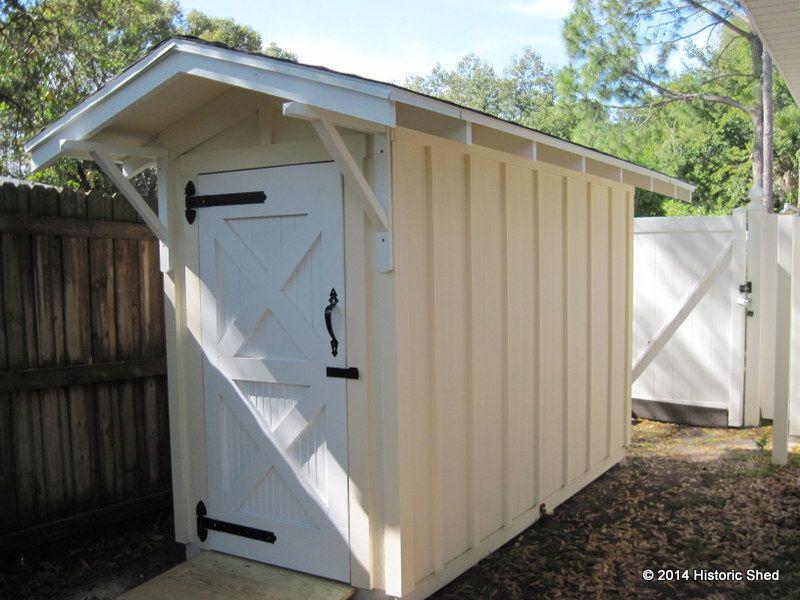 Garden Sheds 4 X 8 4'x8' board & batten shed w/ 6' side walls | small outdoor storage