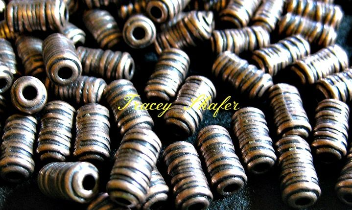 New finally here, antique copper beads