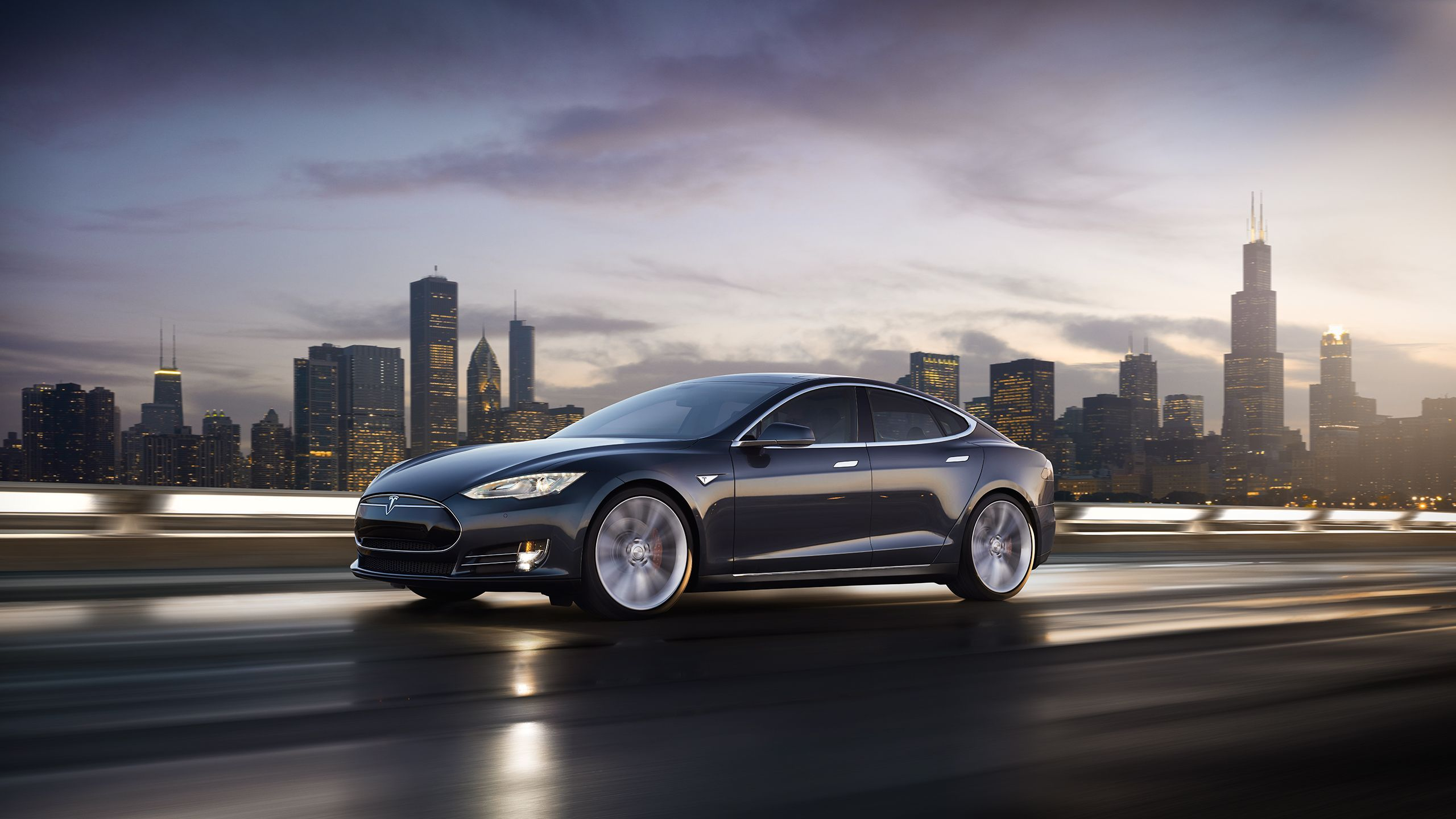 Tesla Model S electric car in wallpapers and images
