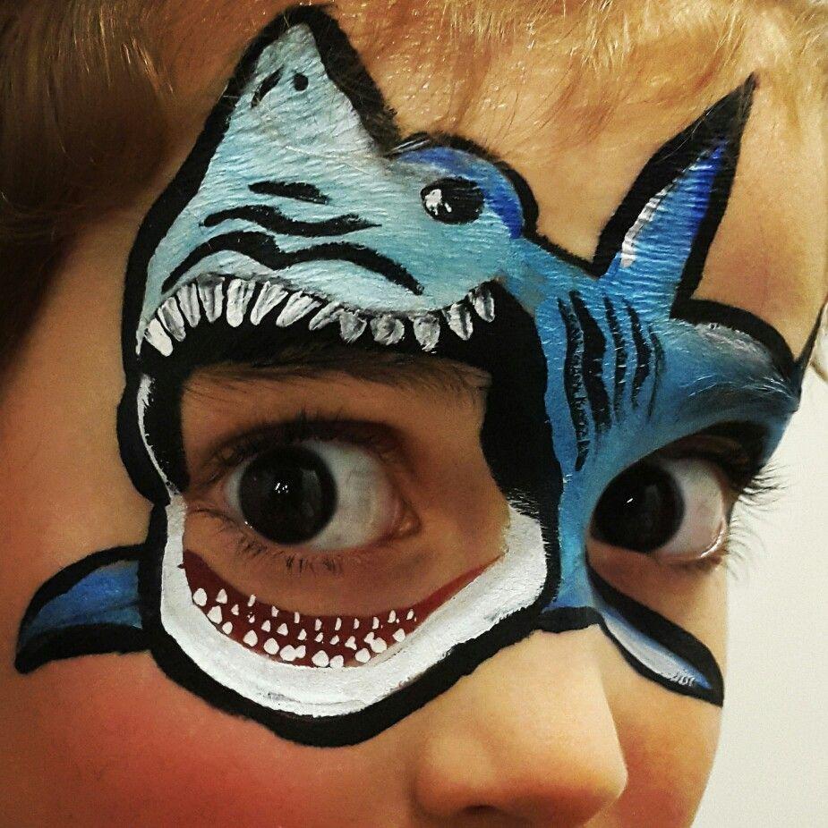shark facepaint facepainting makeup Face painting