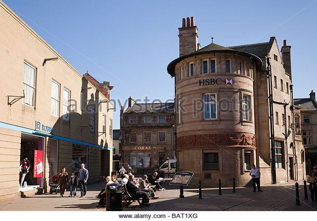 Fore Street Hexham Northumberland England UK Europe HSBC bank in