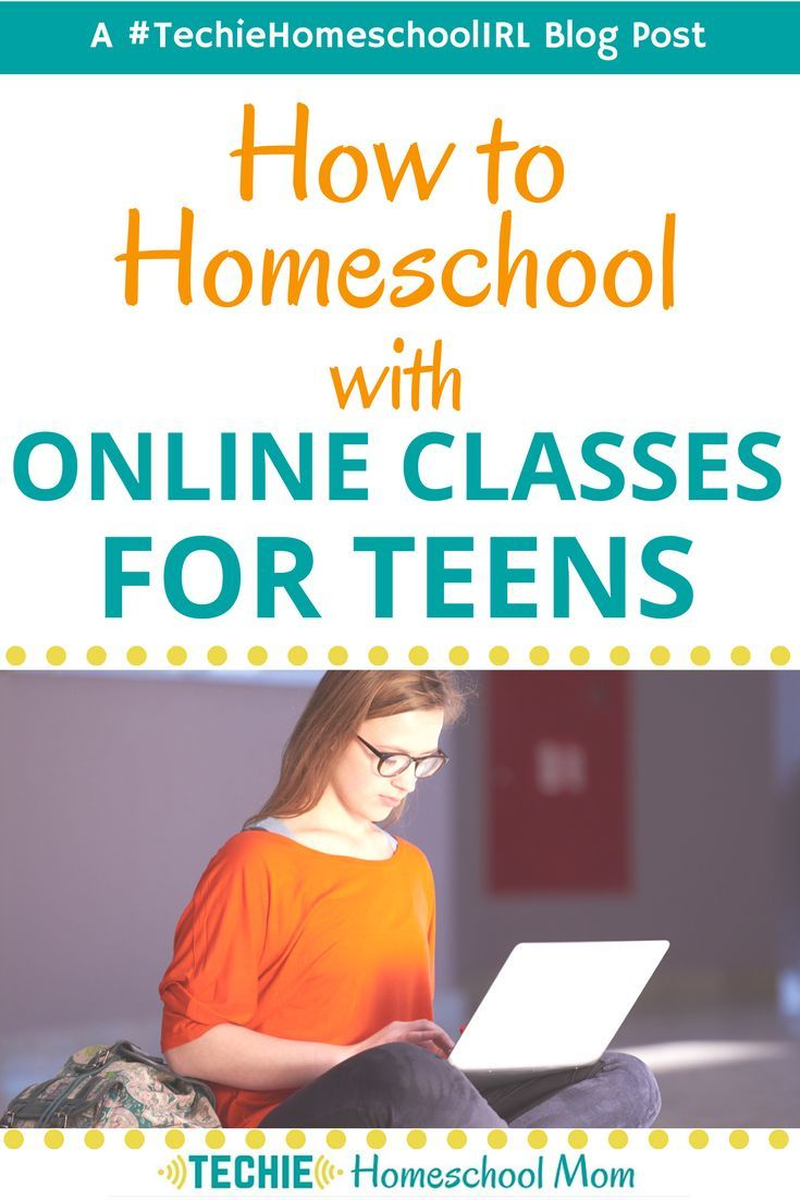 How to Homeschool With Online Classes for Teens #onlineclasses