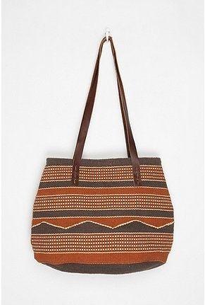 9b4ac164b2 Ecote Woven Pattern Tote Bag