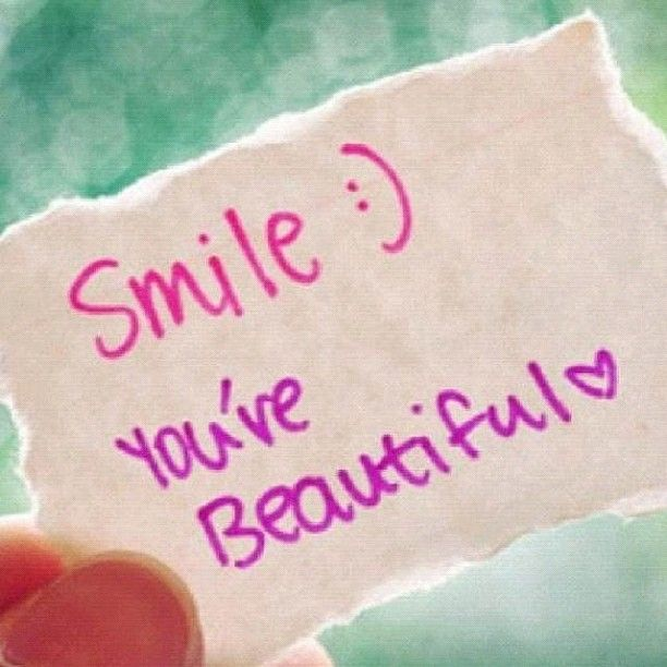 Nice Quotes On Beautiful Smile: Smile! You Are Beautiful. #quoteoftheday #friday