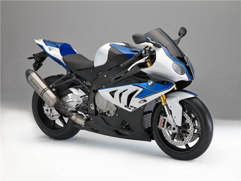 The BMW HP4 (High Performance 4 cylinders) is a 999 cc, 16 valve DOHC inline engine with almost 200 HP. However, its bigger punch is in the electronics: Every system in this futuristic beast is reprogramable or can adjust in real-time, even during the ride: engine injection, shock dampers, ABS systems and traction control are fully computer controlled and adapt to the pilots requests and the riding situation, creating one of the most perfect and accurate production sports bikes in the world.