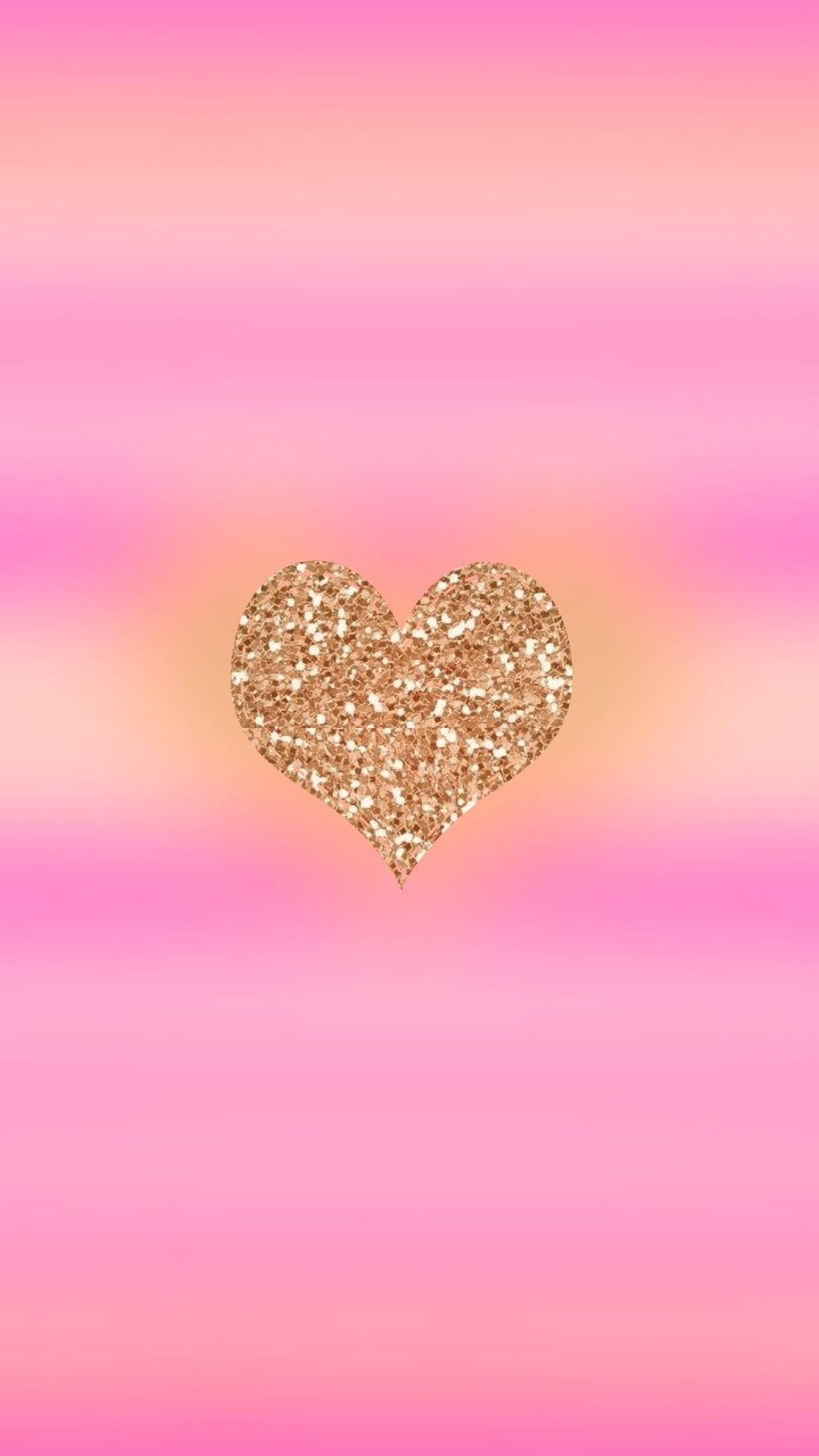 Glitter Heart Pink Glitter Wallpaper Heart Wallpaper