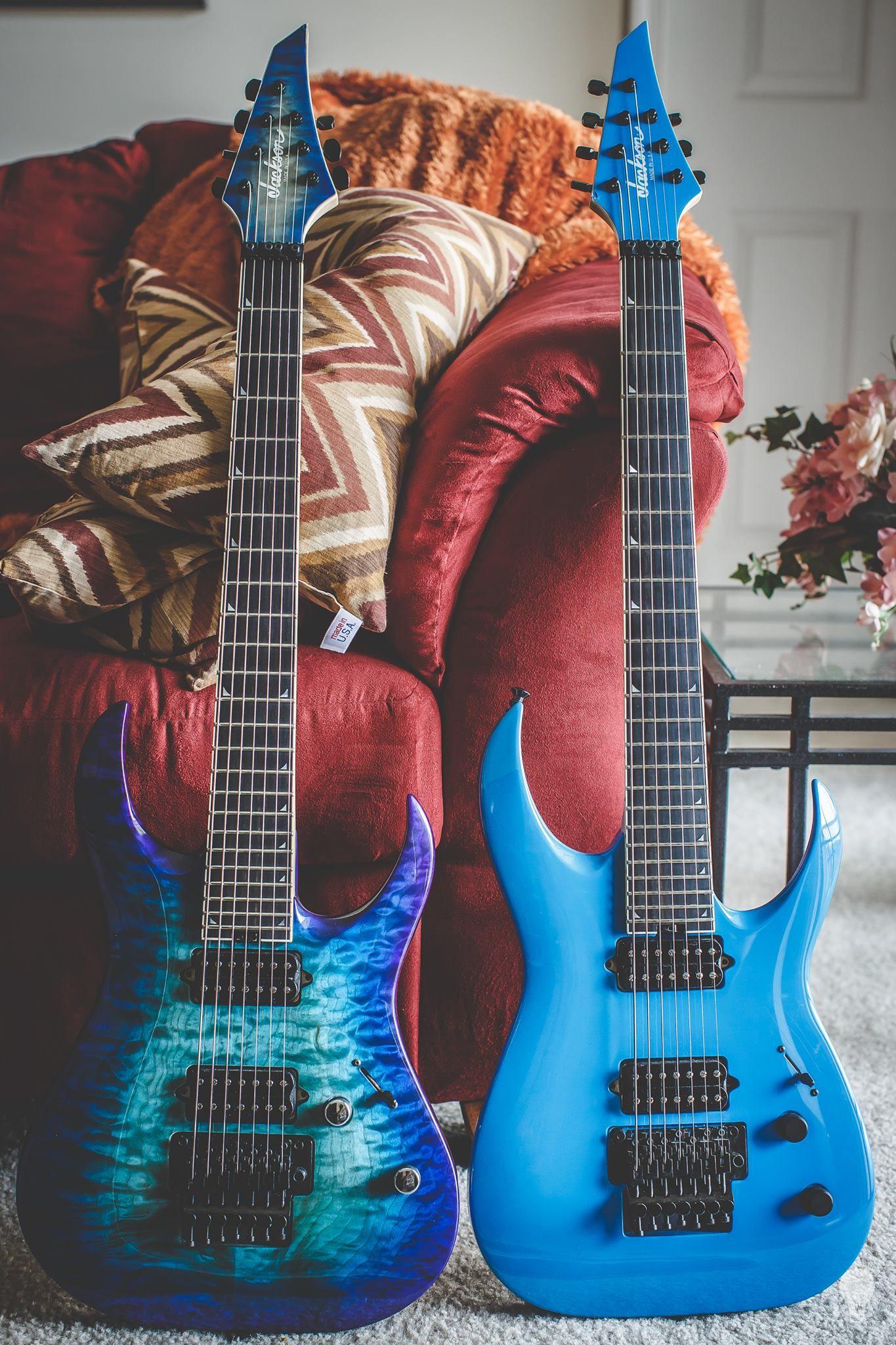 jackson custom shop 7 strings owned by misha mansoor 7 string guitars guitar music guitar. Black Bedroom Furniture Sets. Home Design Ideas