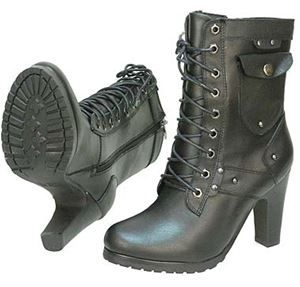 Lace Up High Heel Riding Boots...love love love these boots!