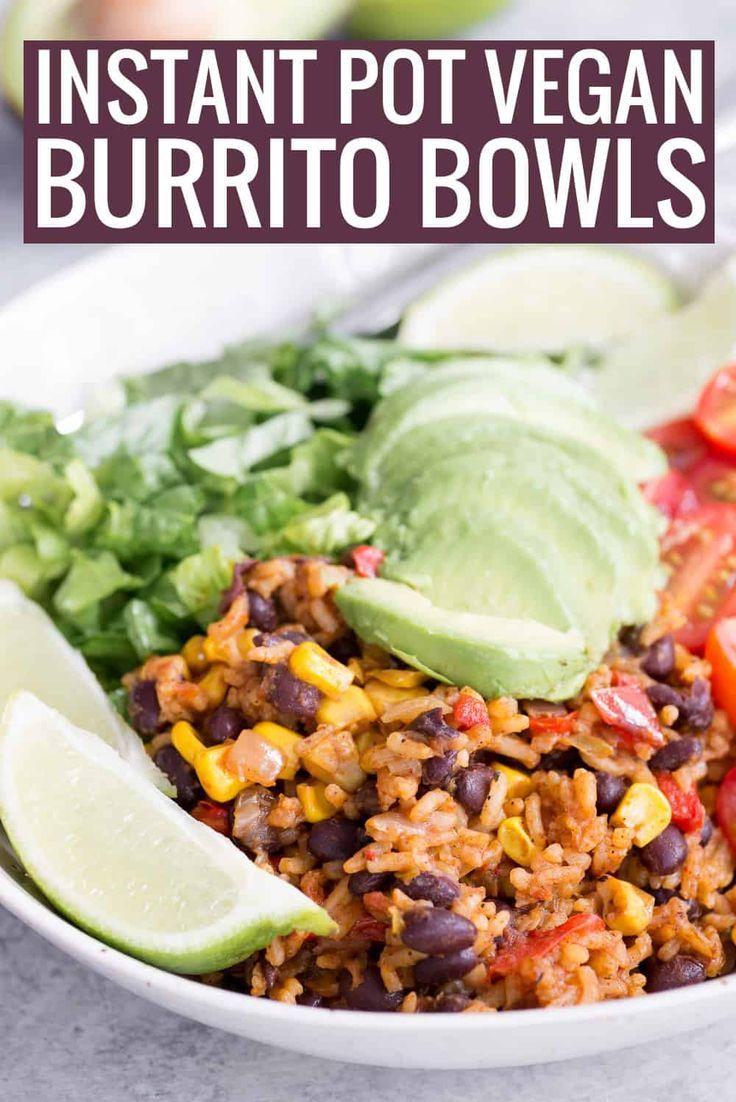 Photo of Instant Pot Vegan Burrito Bowls