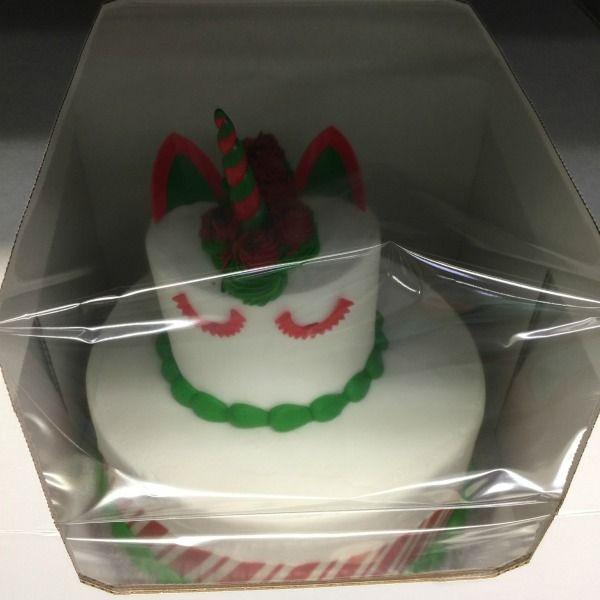 Christmas Unicorn Two Tier Cake From Sams Club Samsclub Dessert Celebration Budget Heandsheeatclean