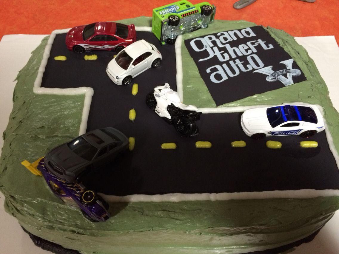 Grand Theft Auto Cake Gta5 With Images Birthday Cake Kids