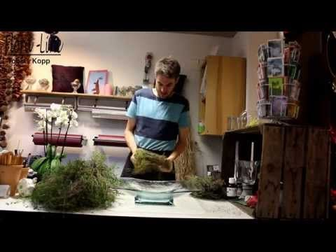 orchideen kreation in eine glasschale selber machen youtube pflanzen pflege deco. Black Bedroom Furniture Sets. Home Design Ideas