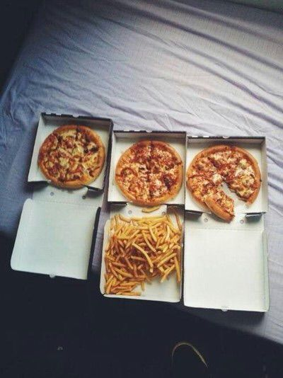 Image via We Heart It https://weheartit.com/entry/144038167 #fat #fries #good #love #need #pizza #want #yummy