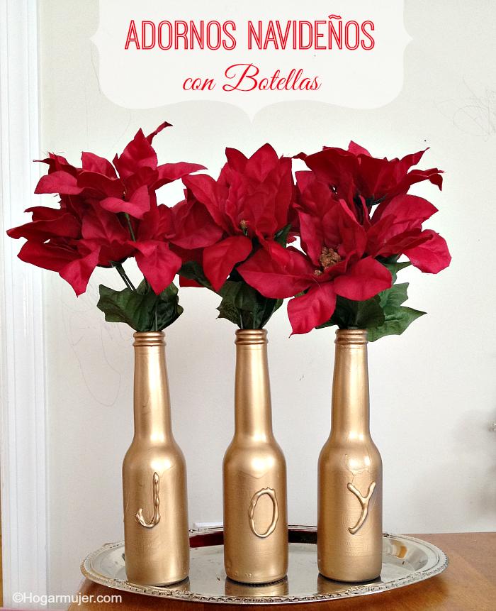 Diy adornos navide os con botellas latin holidays - Ideas para arreglos navidenos ...