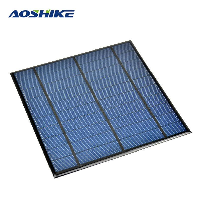 Compare Prices Aoshike 5v 4 5w Epoxy Solar Panel Photovoltaic Panel Polycrystalline Solar Cell Mini Diy