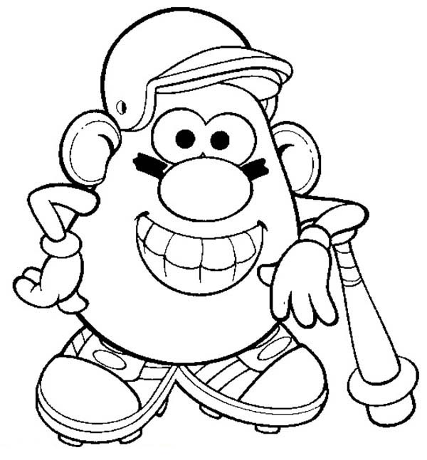 Mr Potato Head The Famous Baseball Player Coloring Pages Bulk Color Dinosaur Coloring Pages Sports Coloring Pages Grinch Coloring Pages