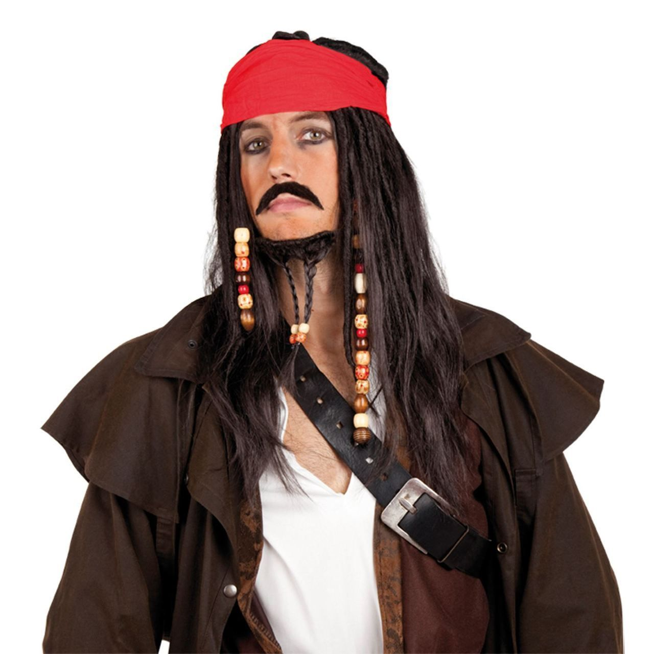Caribbean pirate wig with moustache beard and bandana always caribbean pirate wig with moustache beard and bandana always fancied yourself as a bit solutioingenieria Gallery