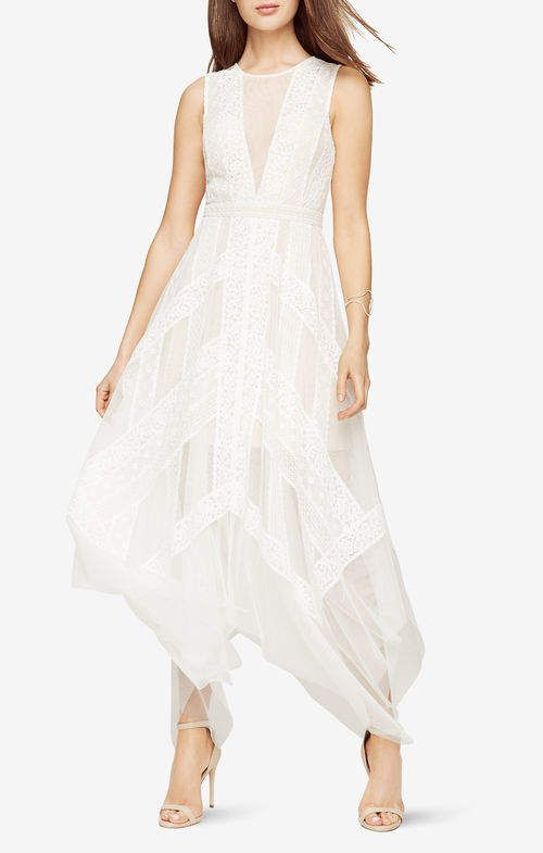 120a3fdbcba1 BCBGMAXAZRIA Andi Lace Dress | Products | White tulle dress, Dresses ...