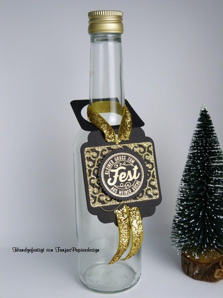 TanjasPapierdesign - #Flaschenanhänger #Stampinup #NetteEtiketten #EleganteVerpackung