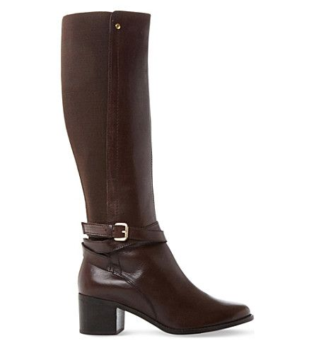 DUNE Vivv stretch panel kneehigh leather boots  #dune #shoes #boots