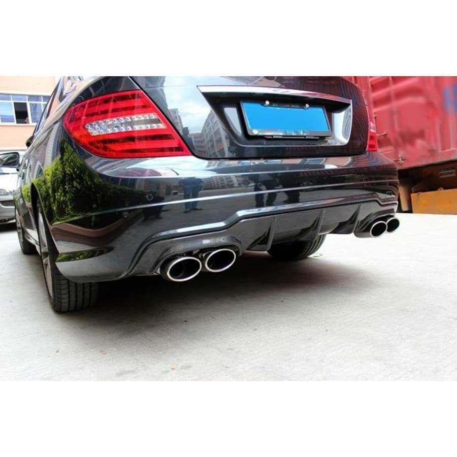 Mercedes Benz W204 C63 Amg Facelift Carbon Fibre Oem Rear Diffuser Kit 2012 2014 In 2021 Mercedes Benz Benz Mercedes