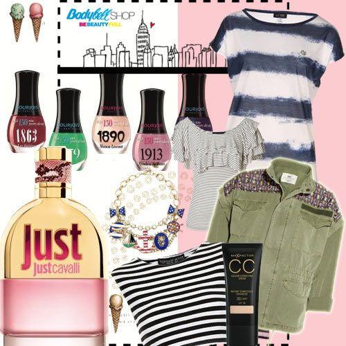 Navy + Black and White #tendencias #camisetas #navy #belleza #cavalli