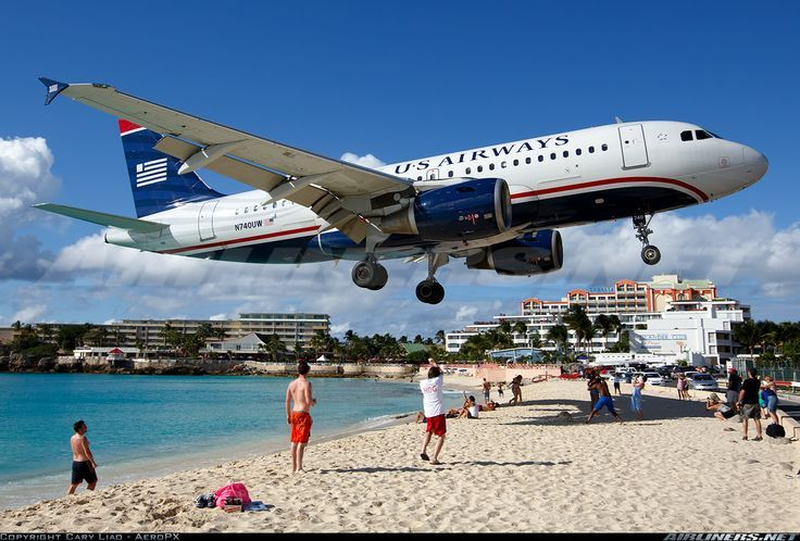 I Remember A Postcard Of This At The Us Airways Gift One Our Jets Landing St Thomas Virgin Iislands Google Search