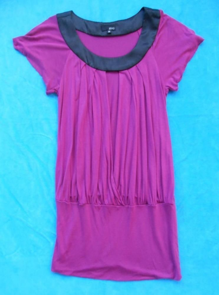 d5144af8b38 ZINC Fuschia Purple Tunic Style Sexy Top Shirt Size Juniors MEDIUM M # fashion #clothing #shoes #accessories #womensclothing #tops (ebay link)