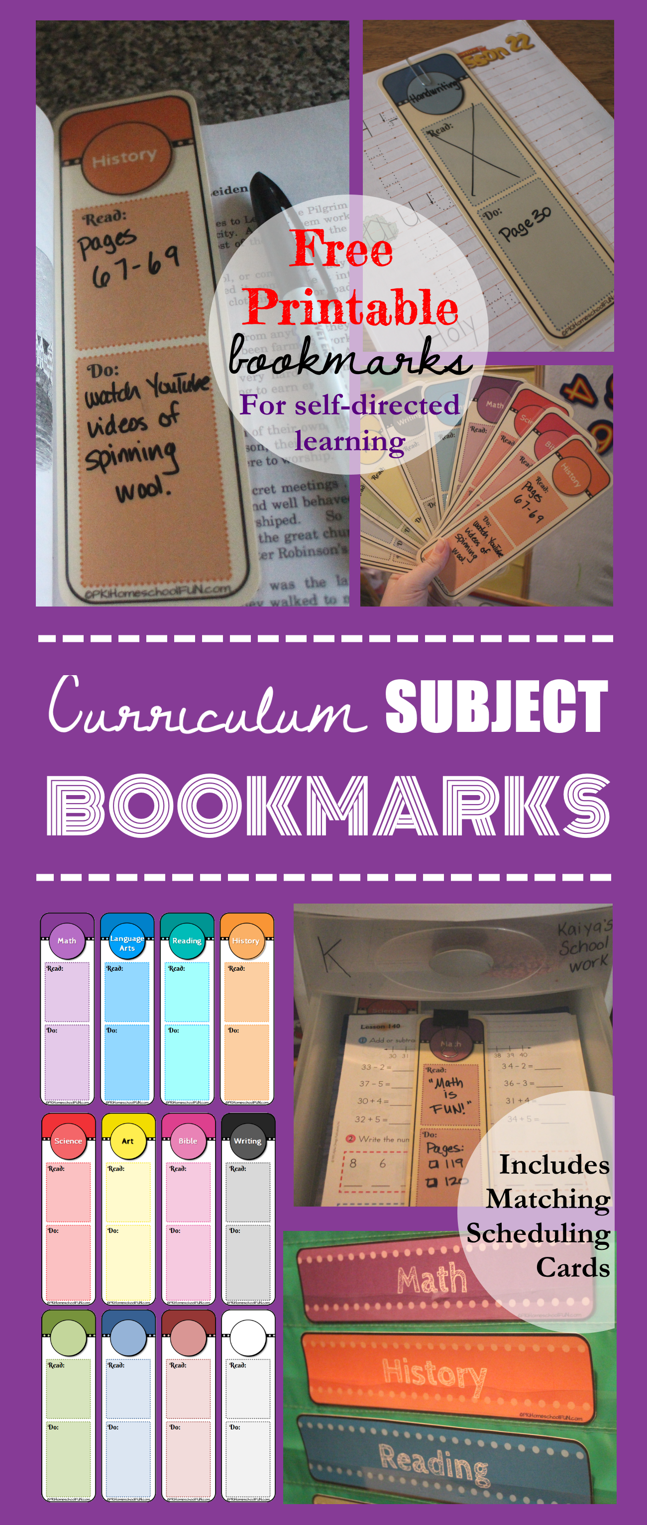 Daily Curriculum Bookmark Guides | Educación en casa y En casa