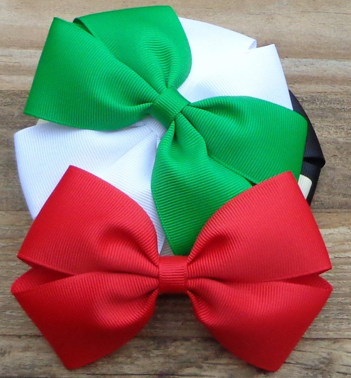 Christmas Hair Bows For Toddlers.Set Of 5 Christmas Hair Bows For Girls Christmas Hair Bow
